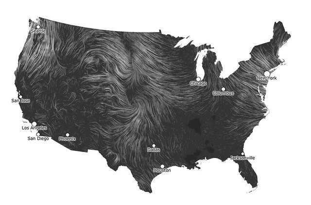 Live wind map visualization